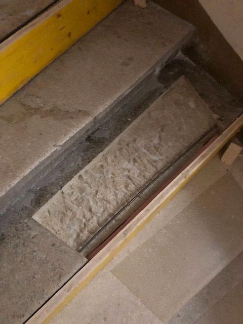 Steintreppen Renovieren, Abgetretene Stufen Sanieren