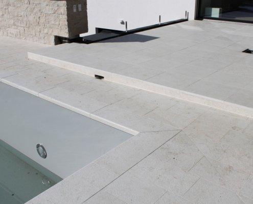 Steinboden Terrasse